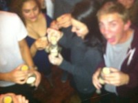 Blurry party shot is blurry