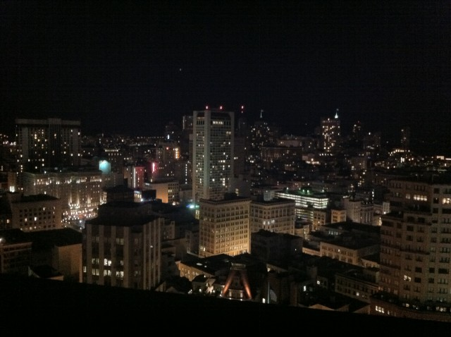 Downtown SF by night