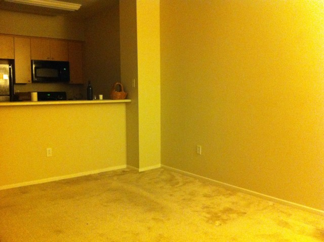 Empty sad apartment is sad and empty